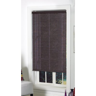 Landrum Fabric Roller Blind Size: 48 H x 27 W, Color: Tuxedo Black