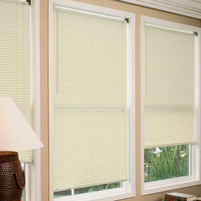 Mini Venetian Blind Size:  70 W x 64 L, Color: Ivory