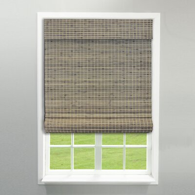 Room Darkening Weave Roman Shade Color: Driftwood, Blind Size: 23 x 64