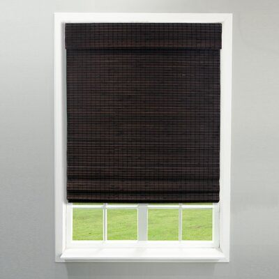 Room Darkening Weave Roman Shade Color: Espresso, Blind Size: 34 x 64