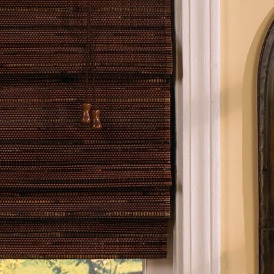 Semi-Sheer Cocoa Roman Shade Blind Size: 71 W x 71 L