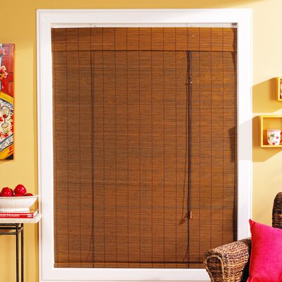 Semi-Sheer Fruitwood Roll-Up Shade Blind Size: 39 W x 63 L