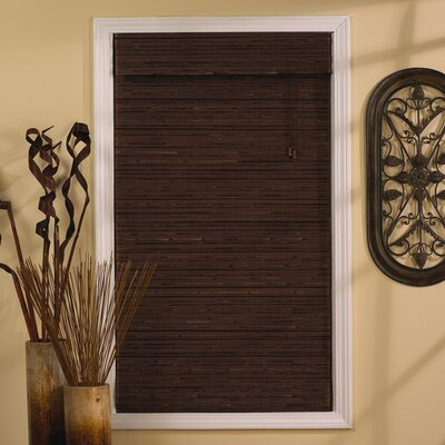 Semi-Sheer Cocoa Roman Shade Blind Size: 47 W x 63 L