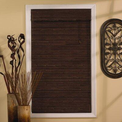 Semi-Sheer Cocoa Roman Shade Blind Size: 47 W x 63 L