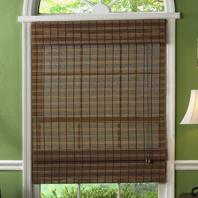 Semi-Sheer Fruitwood Roman Shade Blind Size: 39 W x 63 L