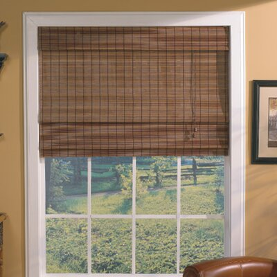 Semi-Sheer Fruitwood Roman Shade Blind Size: 55 W x 63 L