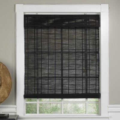 Bamboo Semi-Sheer Roll-Up Shade Blind Size: 43 W x 63 L, Color: Espresso