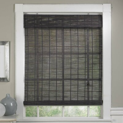 Bamboo Semi-Sheer Roll-Up Shade Blind Size: 71 W x 71 L, Color: Gray