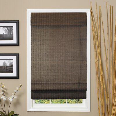 Fiber Jute and Paper Blend Roman Shade Size: 72 H x 48 W