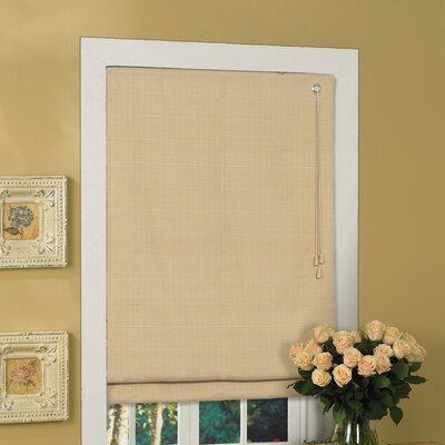 Fabric  Roman Shade Size: 64 H x 23 W, Color: Latte