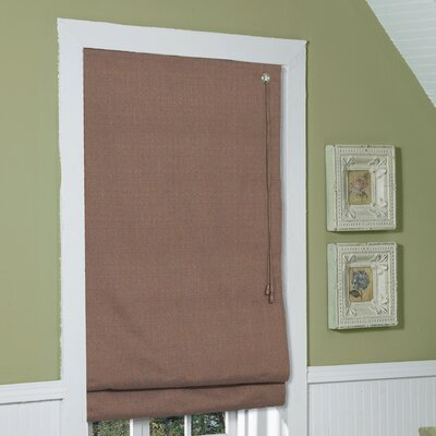 Fabric  Roman Shade Size: 64 H x 35 W, Color: Coffee