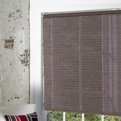Landrum Fabric Roller Blind Color: Tuxedo Brown, Size: 64 H x 36 W