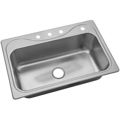 Southhaven� 33 x 22 Single Basin Drop-In Kitchen Sink