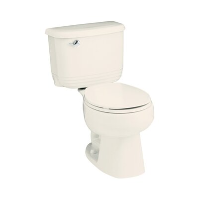 Riverton 1.6 GPF Round Front 2 Piece Toilet Finish: Biscuit