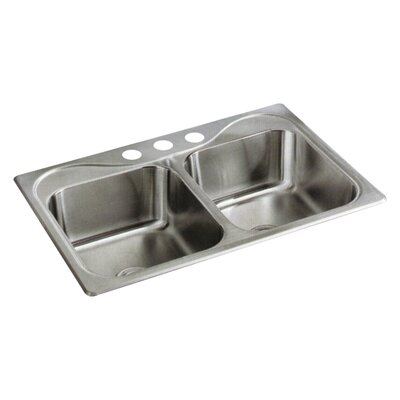 Southhaven 33 x 22 Double Bowl Kitchen Sink