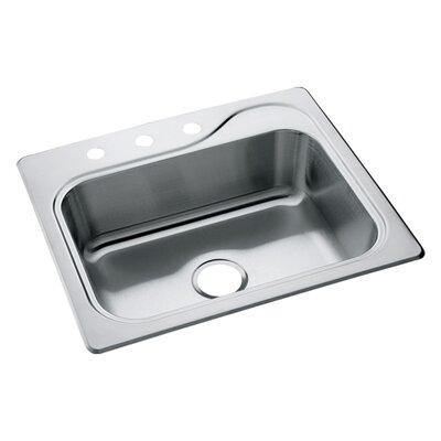 Southhaven 25 x 22 Self Rimming Single Bowl Kitchen Sink