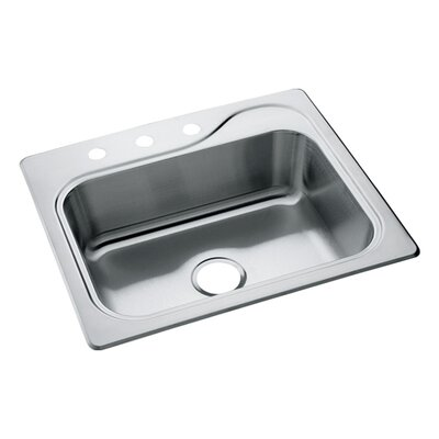 Southhaven 25 x 22 Self Rimming Single Bowl Kitchen Sink