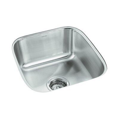 Springdale 17.75 x 16.25 No Holes Undermount Single Bowl Kitchen Sink