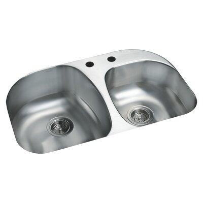 Cinch 31.5 x 20.5 Double Bowl Kitchen Sink