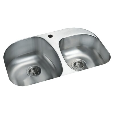 Cinch 31.5 x 20.5 Double Bowl Kitchen Sink