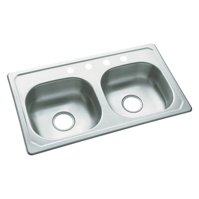 Southhaven 33 x 19 Self Rimming Double Bowl Kitchen Sink
