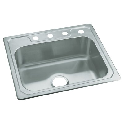 Middleton 25 x 22 Self Rimming Single Bowl Kitchen Sink