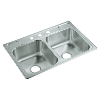 Middleton 33 x 22 Self Rimming Double Bowl Kitchen Sink