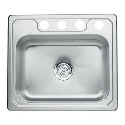 Middleton 25 x 22 Self Rimming Single Bowl Kitchen Sink