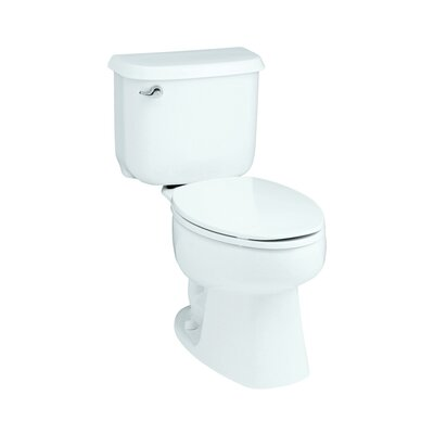 Windham Front 1.6 GPF Round 2 Piece Toilet Finish: White
