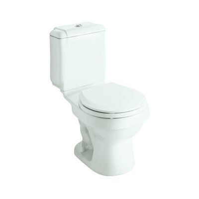Rockton Dual Flush Round 2 Piece Toilet Finish: White
