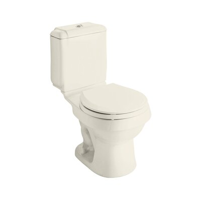 Rockton Dual Flush Round 2 Piece Toilet Finish: Biscuit