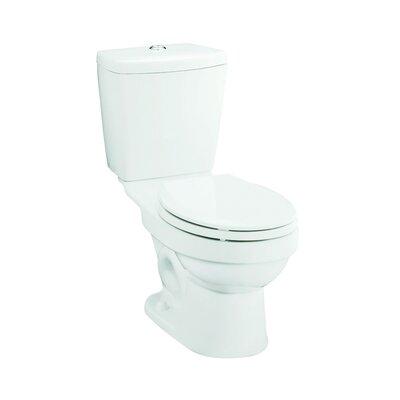 Karsten Front Dual Flush Round 2 Piece Toilet Finish: White