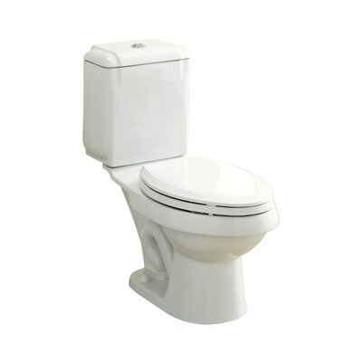 Rockton Dual Flush Elongated 2 Piece Toilet Finish: White