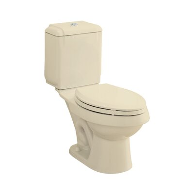 Rockton Dual Flush Elongated 2 Piece Toilet Finish: Almond