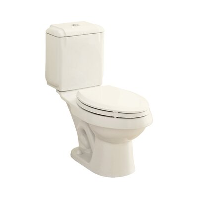 Rockton Dual Flush Elongated 2 Piece Toilet Finish: Biscuit