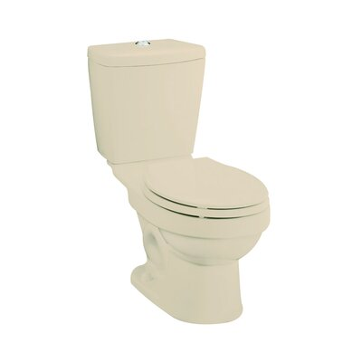 Karsten Dual Flush Elongated 2 Piece Toilet Finish: Almond