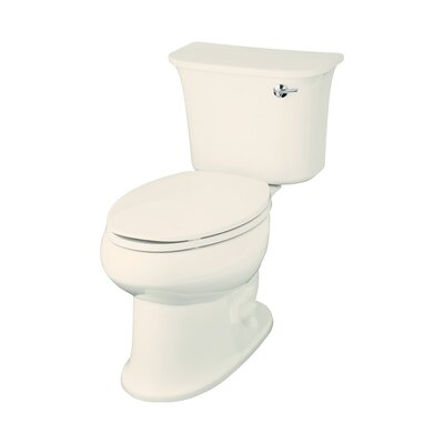 Stinson 1.28 GPF Elongated 2 Piece Toilet Finish: Biscuit