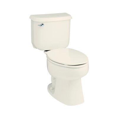 Windham 1.6 GPF Round Front 2 Piece Toilet Finish: Biscuit