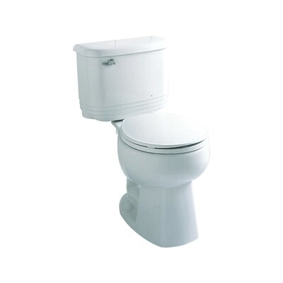 Riverton 1.6 GPF Round Front 2 Piece Toilet Finish: White