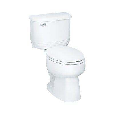 Riverton 1.6 GPF Elongated 2 Piece Toilet Finish: White