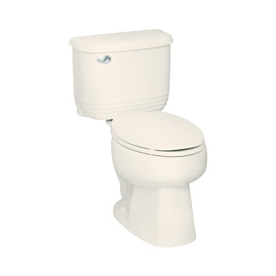 Riverton 12 Rough-in 1.6 GPF Elongated 2 Piece Toilet Finish: Biscuit
