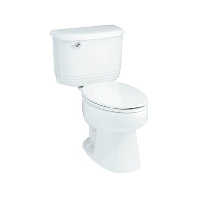 Riverton ADA 1.6 GPF Luxury Height Elongated 2 Piece Toilet Finish: White