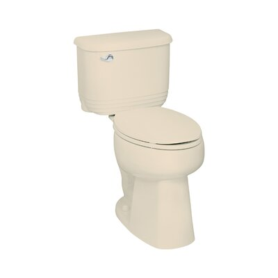 Riverton ADA 1.6 GPF Elongated 2 Piece Toilet Finish: Almond