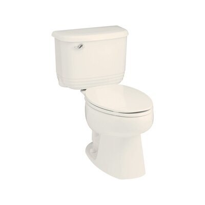 Riverton ADA 1.6 GPF Elongated 2 Piece Toilet Finish: Biscuit