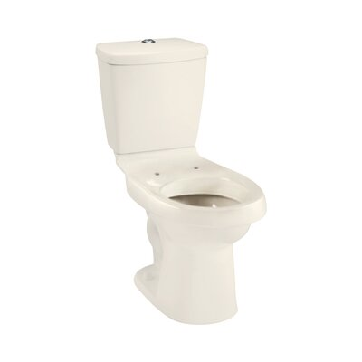 Karsten Luxury Height Dual Flush Elongated 2 Piece Toilet Finish: Biscuit