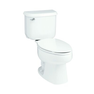 Windham 10 Rough-In 1.6 GPF Elongated 2 Piece Toilet Finish: White