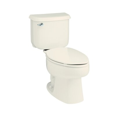 Windham 12 Rough-In 1.6 GPF Elongated 2 Piece Toilet Finish: Biscuit