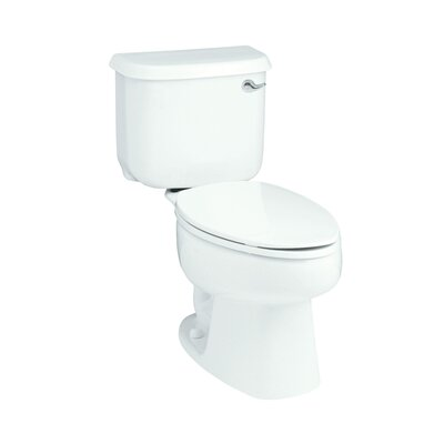 Windham 1.28 GPF Elongated 2 Piece Toilet Finish: White