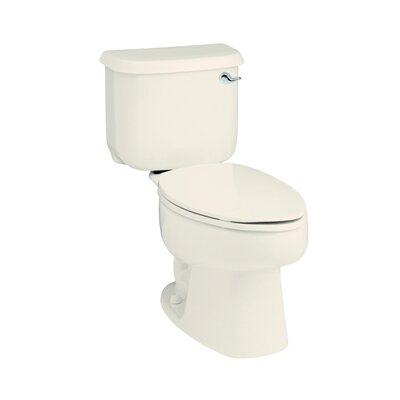Windham 1.28 GPF Elongated 2 Piece Toilet Finish: Biscuit