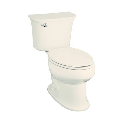 Stinson 1.6 GPF Elongated Luxury Height 2 Piece Toilet Finish: Biscuit